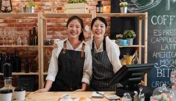 Small,Startup,Business,Owner,Concept.,Two,Successful,Young,Baristas,Women